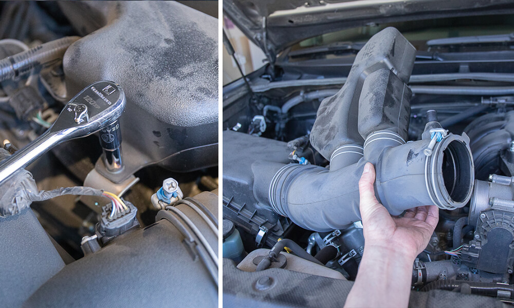 Volant Intake Install Step 4 - Remove Inlet Tube