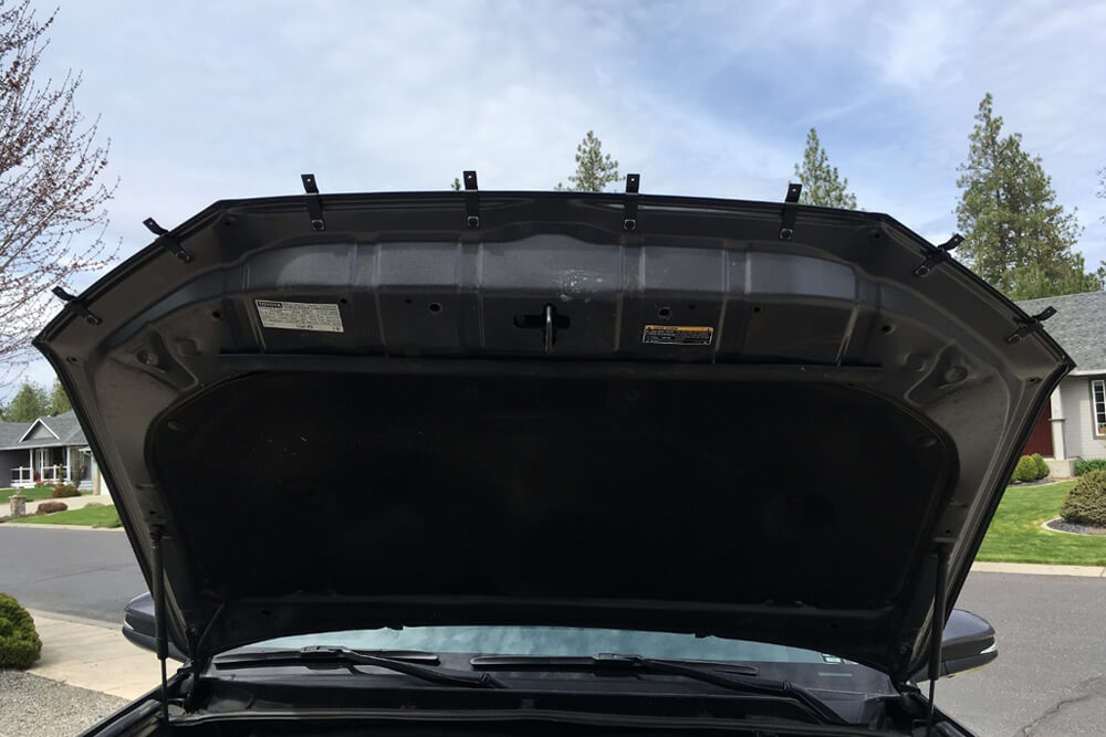 OEM Hood, Rock Chip and Bug Protector Install - Brackets Installed - 5th Gen 4Runner