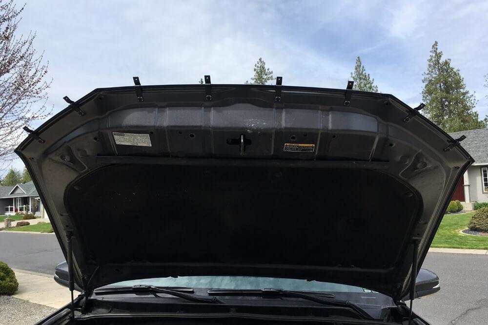 OEM Hood, Rock Chip and Bug Protector Install - Brackets Installed - 5th Gen 4Runner