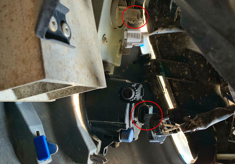 DeMello Off Road Bumper Install - Step 4. Disconnect Fog Lights, DRLS / Blinkers