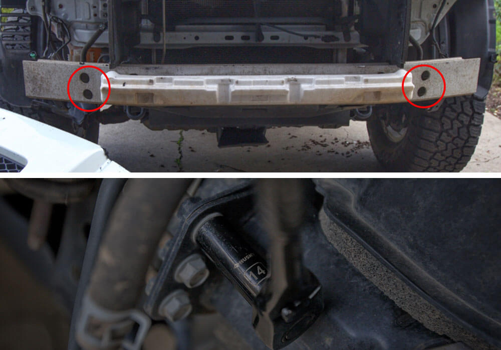 DeMello Off Road Bumper Install - Step 7. Remove Bumper Reinforcement Bar/Bash Bar