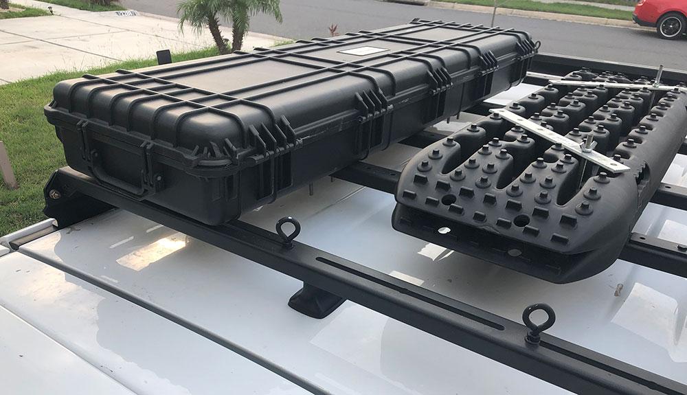 Using a Gun Case as Cargo Box for Recovery Gear