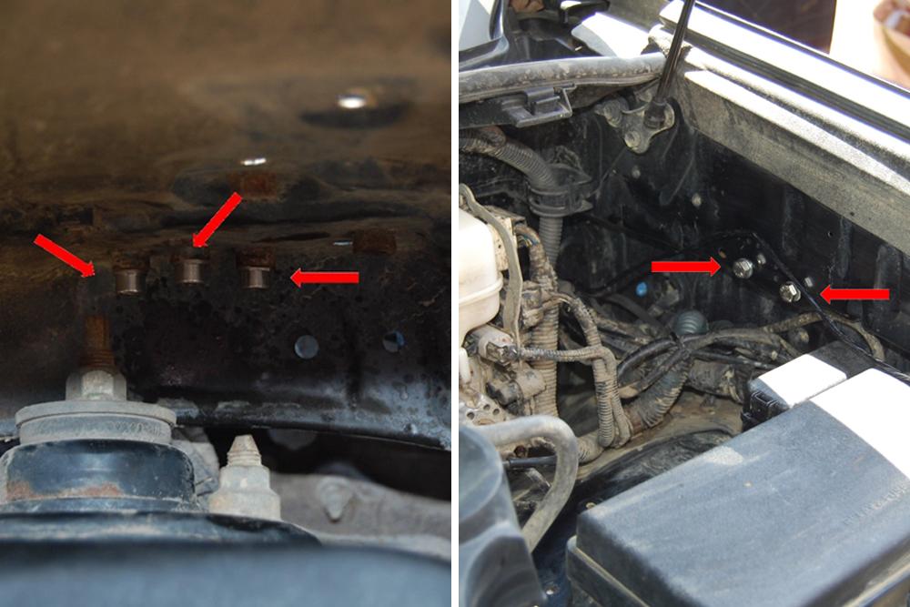 Rago Air Compressor Mount & Gauge - Step 3: Install Bolts & Screws into Body