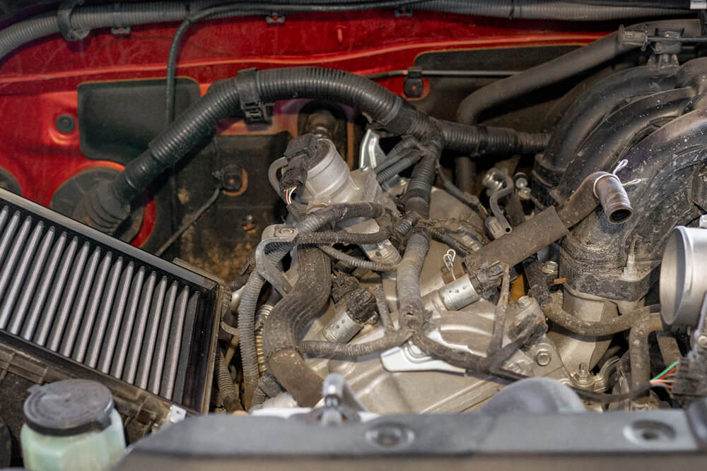 S&B Filters & Cold Air Intake Install and In-House 0-60 MPH Acceleration Testing - Step 2C: Remove Intake Tube & Filter