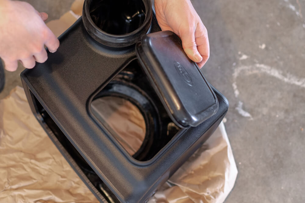 S&B Filters & Cold Air Intake Install and In-House 0-60 MPH Acceleration Testing - Step 3C: Install Scoop and Box Plug