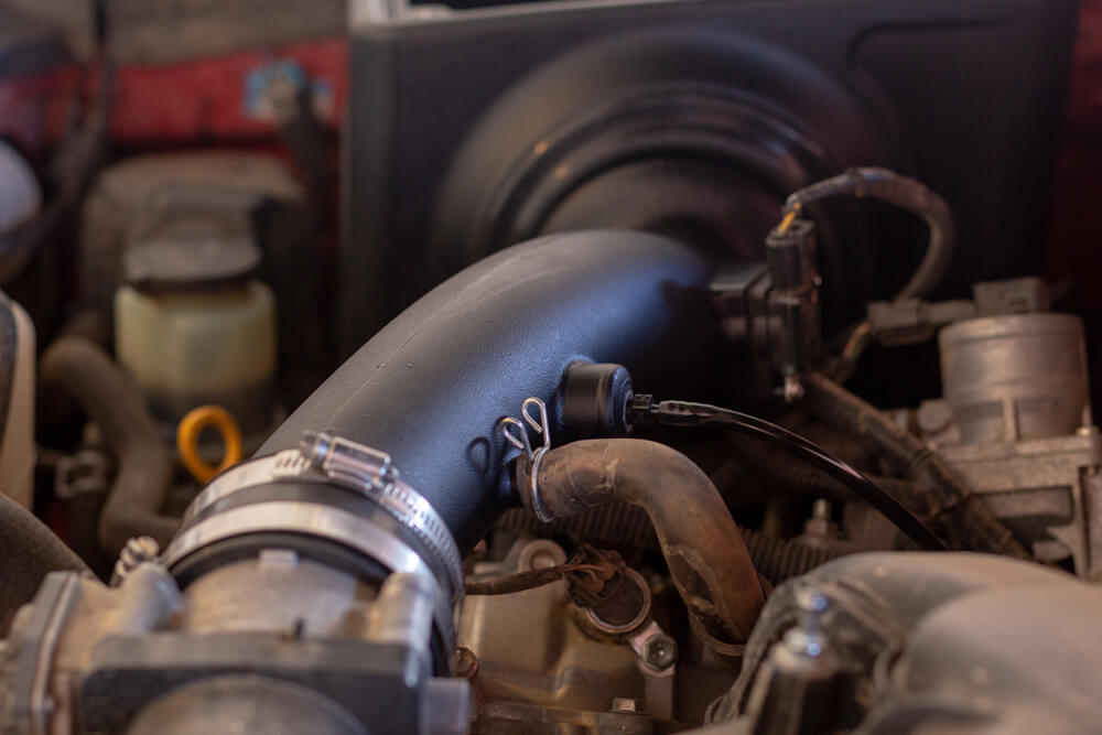 S&B Filters & Cold Air Intake Install and In-House 0-60 MPH Acceleration Testing - Step 3E: Connecting the Intake Tube