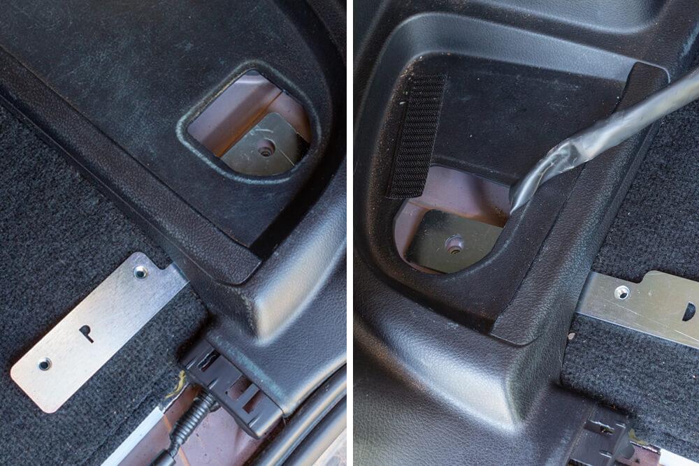 Goose Gear Cargo Plate System Installation: Step 4. Install Rear Platform Brackets