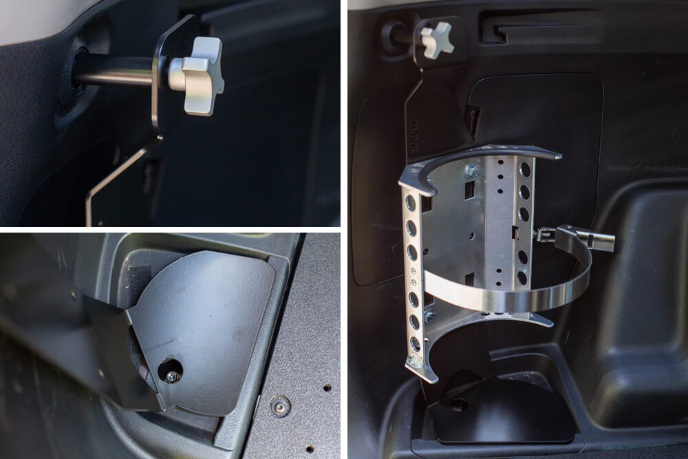 M.O.R.E. Air Tank Mount Install on the 5th Gen 4Runner: Step 4. Secure M.O.R.E Bracket
