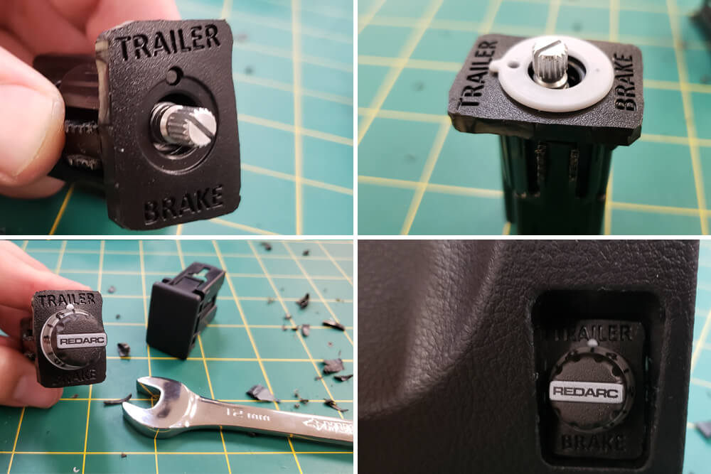 REDARC Tow-Pro Elite Trailer Brake Controller Install: Step 17. Assemble Knob Using 12mm Wrench