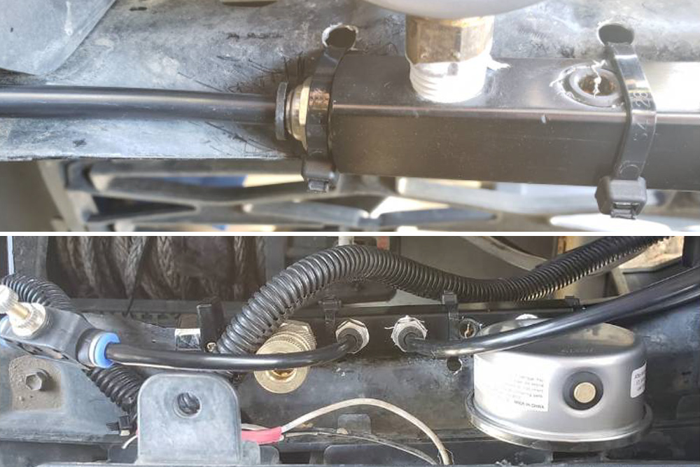 2-Way Inflation and Deflation System For Your 4x4 Tires: Quick Overview & Install Guide: Step 1. Find a Location For Air Manifold, Tube & Valve