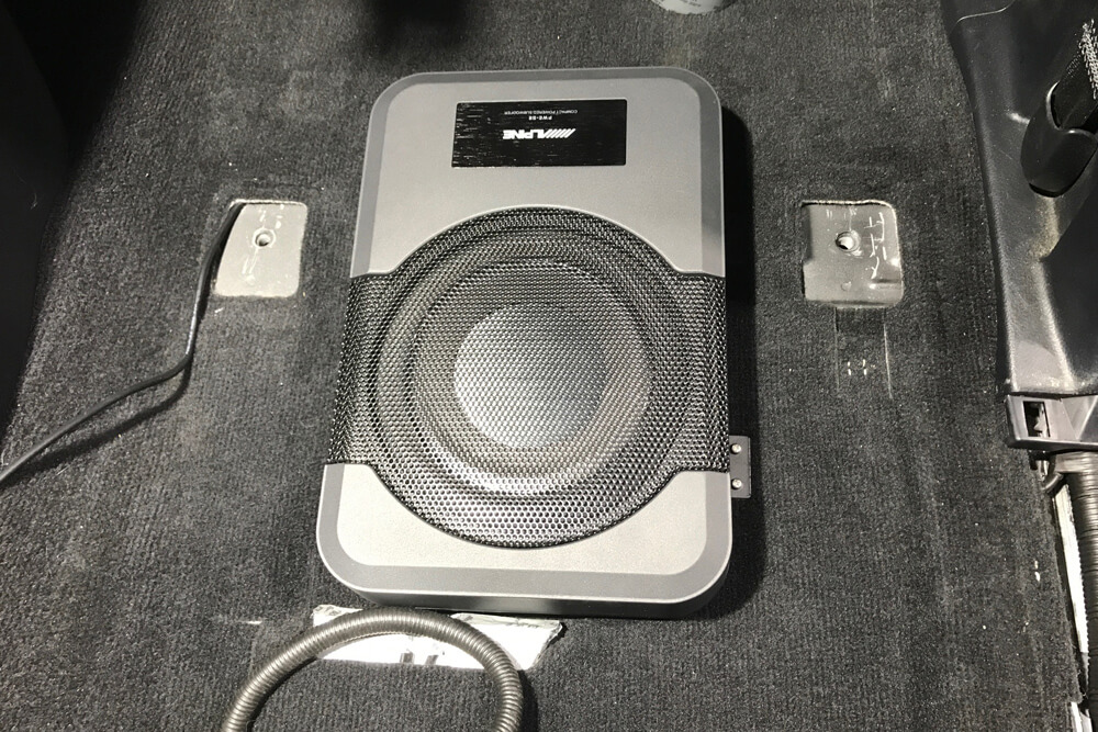 Alpine PWE-S8 Underseat Subwoofer Step By Step Install On the 5th Gen 4Runner: Step 3. Attach Subwoofers