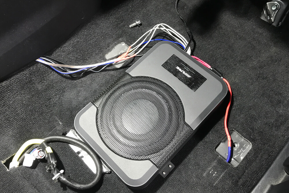 Alpine PWE-S8 Underseat Subwoofer Step By Step Install On the 5th Gen 4Runner: Step 12. Attach All Wires to the Sub Harness
