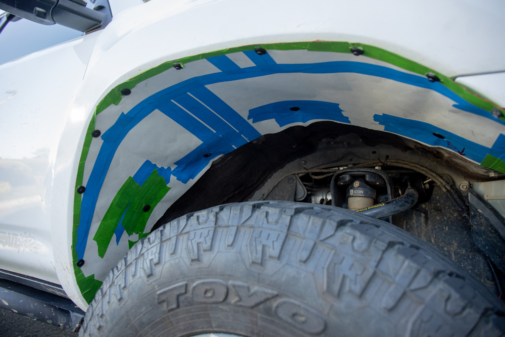 DIY Rubber Fender Liners for Fiberglass Fenders - Step by