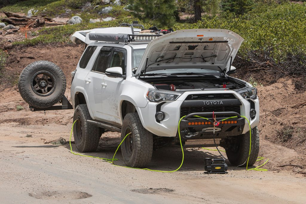 Overland Ready 4Runner with Swingout and Fiberglass Fenders