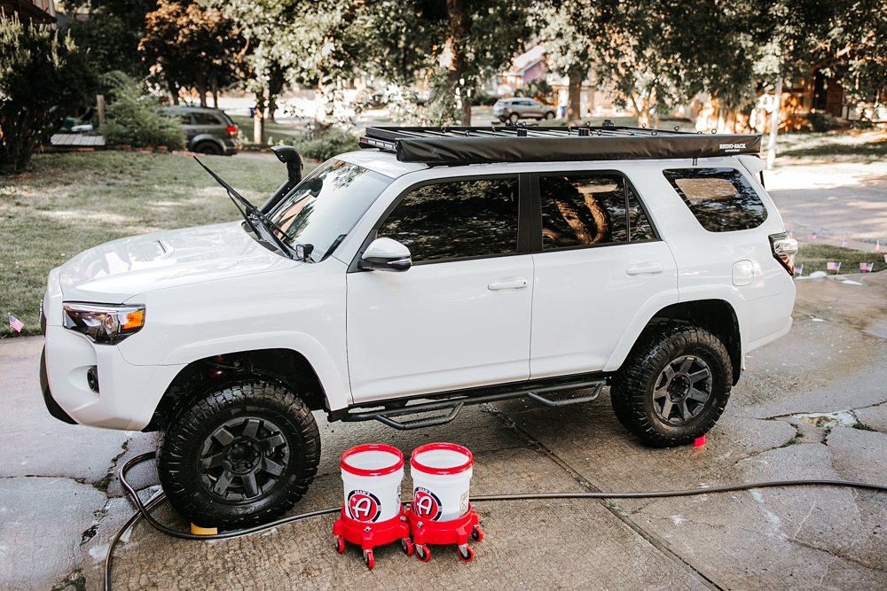 """2 Bucket Method"" & Setup: Quick & Easy Hand Washing your truck using Adam's Polishes"