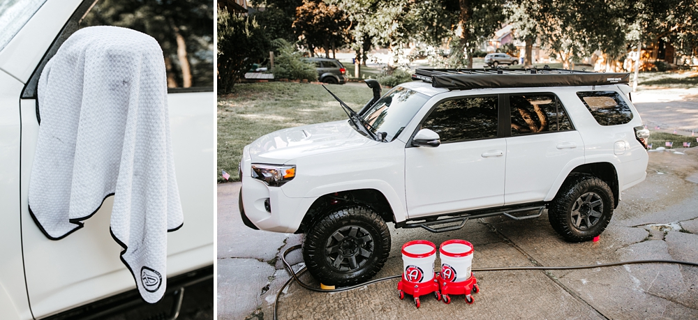 """2 Bucket Method"" & Setup: Quick & Easy Hand Washing your truck using Adam's Polishes: STEP 5: DRY YOUR TRUCK"