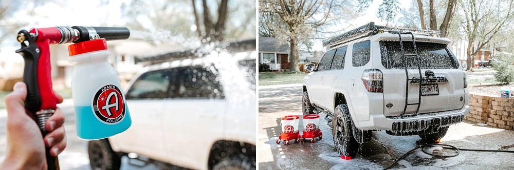 """2 Bucket Method"" & Setup: Quick & Easy Hand Washing your truck using Adam's Polishes: STEP 3: FOAM YOUR TRUCK"