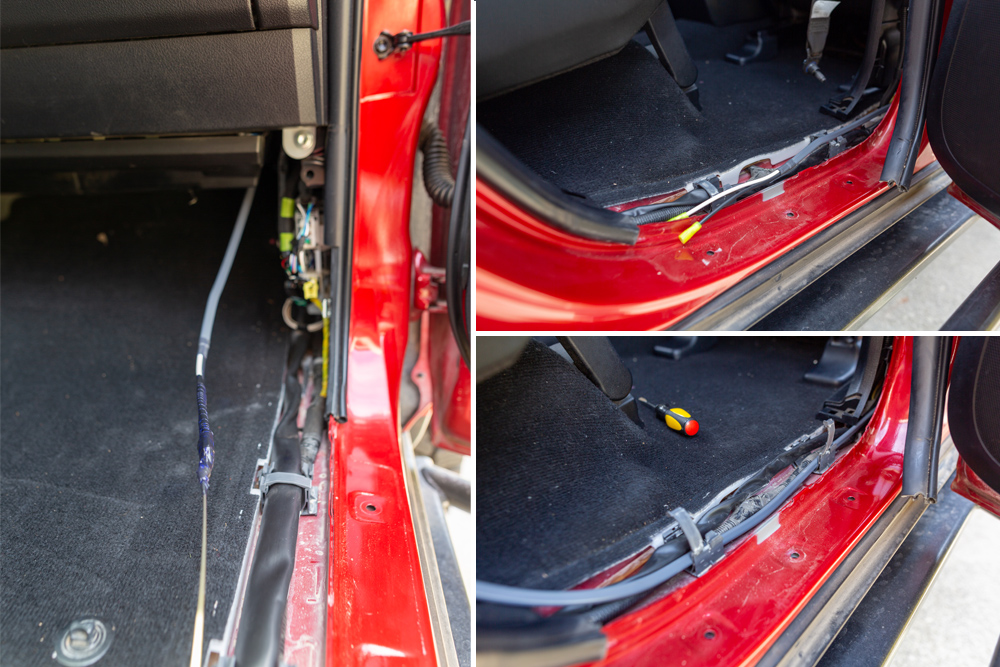 Off-Grid Engineering / Blue Sea Auxiliary Power Outlet Install On the 5th Gen 4Runner: Step 5A. Passenger Side of the Vehicle