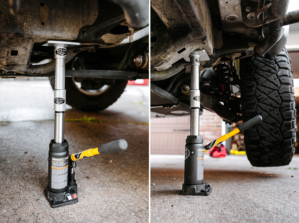 Safe Jack Recovery Kit + 6 Ton Bottle Jack Off Road Accessory: In-depth Review & Install For the 5th Gen 4Runner - Lifting from the Frame