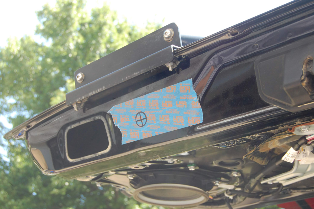 Autoease Power Liftgate Product Review & Install: Autoease's Electric Powered Liftgate for 5th Gen 4Runner.STEP 5: DRILL HOLE FOR REAR LIFTGATE BUTTON & FISH WIRES THROUGH THE LIFTGATE