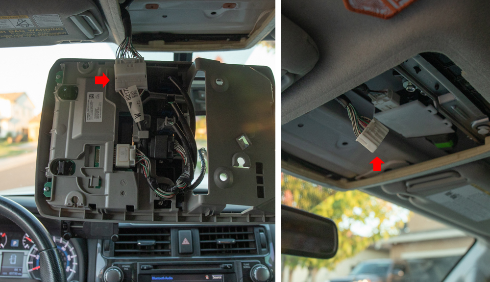 Remove Overhead Console 4Runner 5th Gen (step 3)