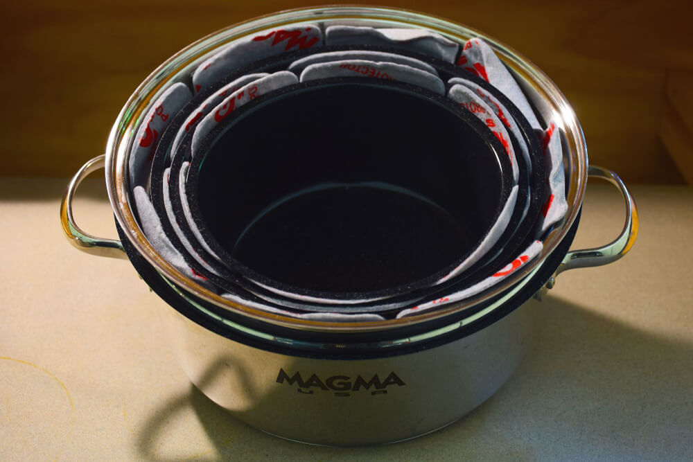 Magma Cookware Review: Camping Gear For Gourmet Cooking Off the Beaten Path: Protector Set Keeps Pots from Rubbing