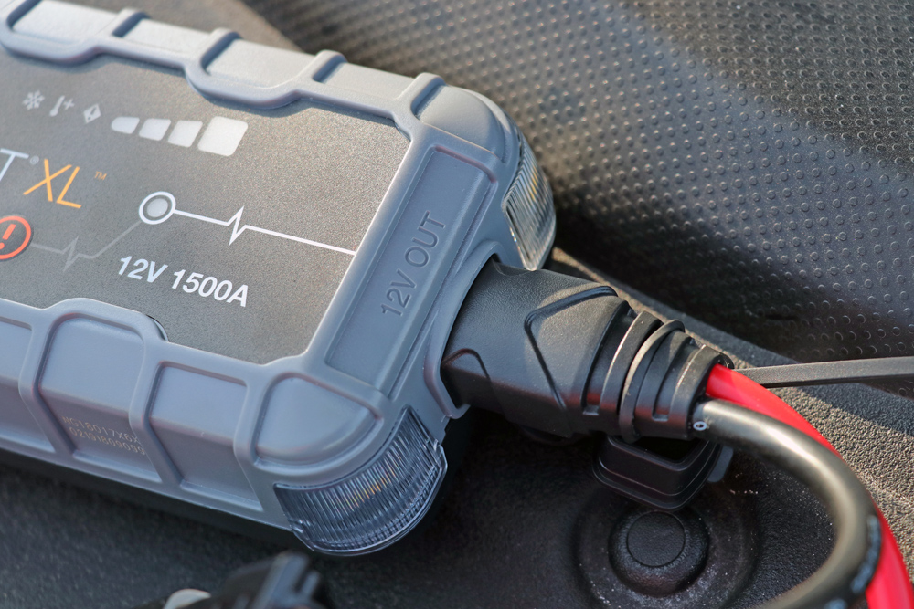 NOCO GB50 Portable Jump Starter: Review + Install For the 5th Gen 4Runner: Step 1. Attach Battery Clamps to GB50
