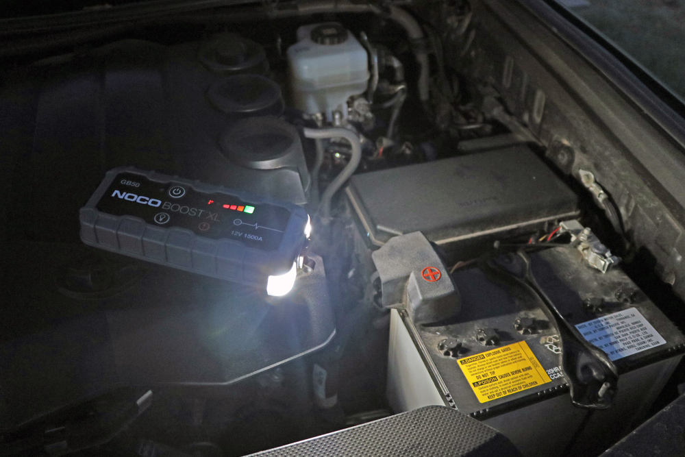 NOCO GB50 Portable Jump Starter: Review + Install For the 5th Gen 4Runner: Flashlight