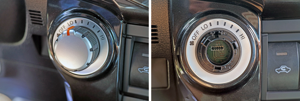 AJT Custom Climate Control Knobs: An Easy DIY Interior Upgrade For the 5th Gen 4Runner: Step 1. Remove Old Climate Control Knobs