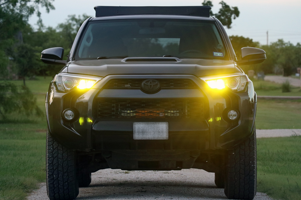 DDM Tuning Raptor 35W 3000K Yellow High Beams: Off Road Trail Tested Review For 5th Gen 4Runner: Yellow LED Lighting?