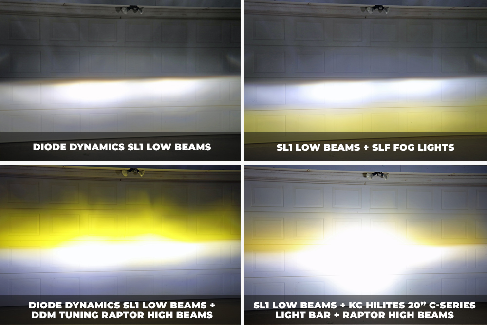 DDM Tuning Raptor 35W 3K Yellow High Beams: Review Of High-Performance LEDs For 5th Gen 4Runner: Testing Diode Dynamite SL1 Low Beams, SLF Fog Lights & Raptor High Beams