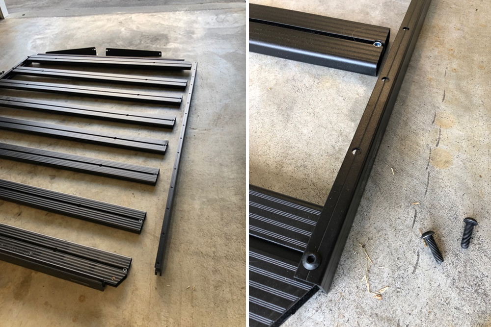 Front Runner Slimline II ¾ Length Roof Rack: Quick Step-By-Step Install For the 5th Gen 4Runner: Step 5. Assemble Each Side of the Rack
