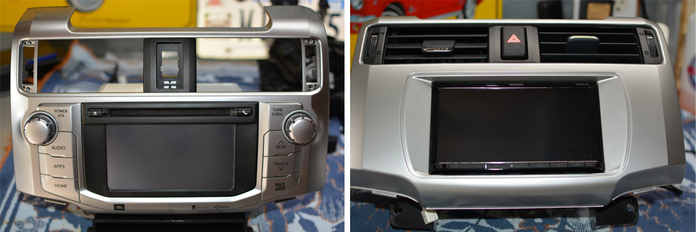 Installation and Review of Kenwood Dnr876 S Headunit in 5th Gen Limited Edition 4Runner: Step 3. Remove OEM Headunit, Heater Controls & Disconnect Wiring
