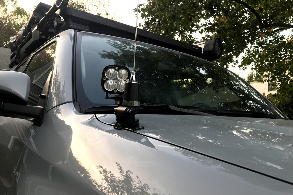 Midland MXT275 GMRS Two-Way Radio + Detachable Mount Setup: Step-By-Step Install on the 5th Gen 4Runner: Step 5. Mount the Antenna