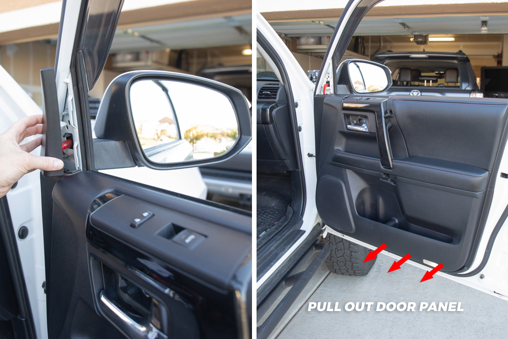 Remove A-Pillar Trim and Pull Off Door Panel