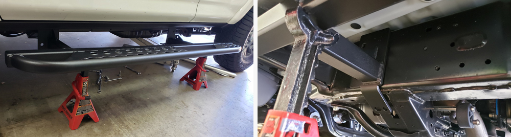 ShrockWorks Rock Sliders Installation & Overview For the 5th Gen 4Runner: STEP 2. PUT THE SLIDER IN PLACE