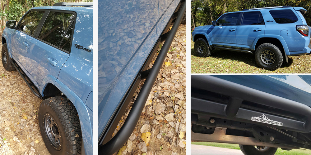 ShrockWorks Rock Sliders Installation & Overview For the 5th Gen 4Runner: Post Install & Angled Slider Photos