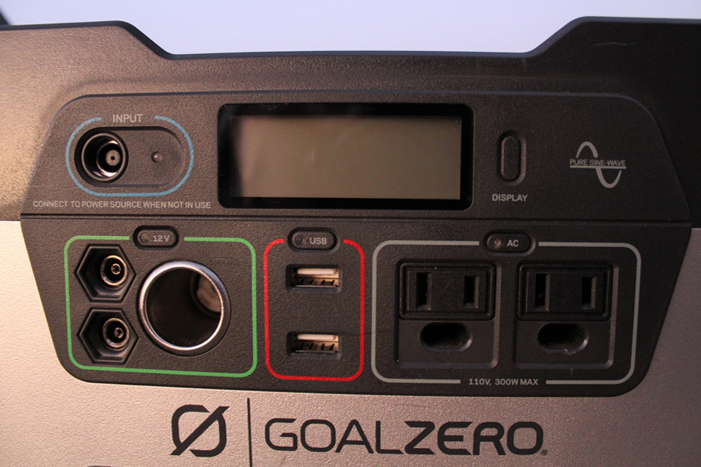 "Goal Zero Yeti 400/""1200"" Portable Power Station and Boulder 100 Solar Panel Briefcase Review For 5th Gen 4Runner: Goal Zero Yeti 400 Output"