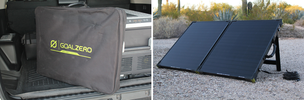"Goal Zero Yeti 400/""1200"" Portable Power Station and Boulder 100 Solar Panel Briefcase Review For 5th Gen 4Runner: Boulder 100 Briefcase Solar Panel Setup"