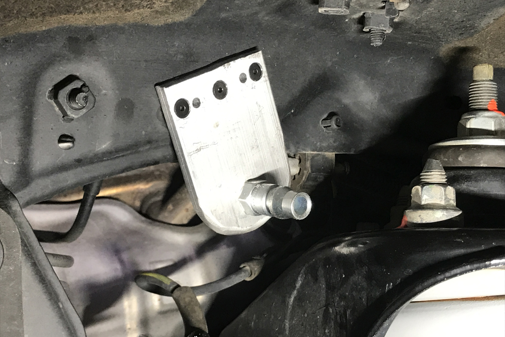 SMITTYBILT 2781 CFM Onboard AIR COMPRESSOR PASSENGER SIDE ENGINE BAY MOUNT Install On the 5th Gen 4Runner: MOUNT AIR FITTING INTO WHEEL WELL