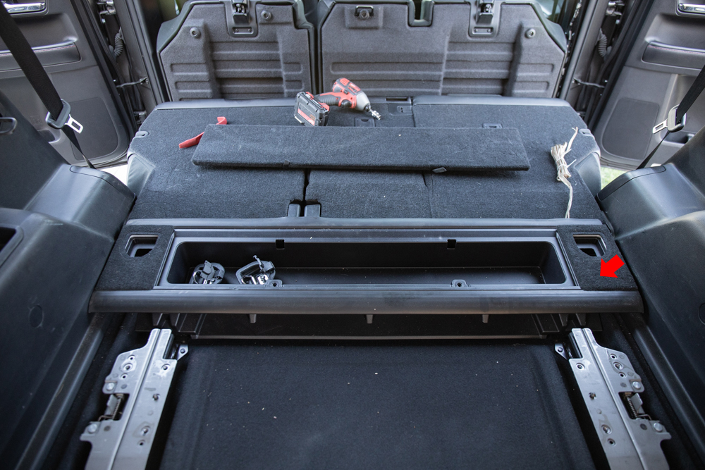 Remove Cargo Compartment Tray