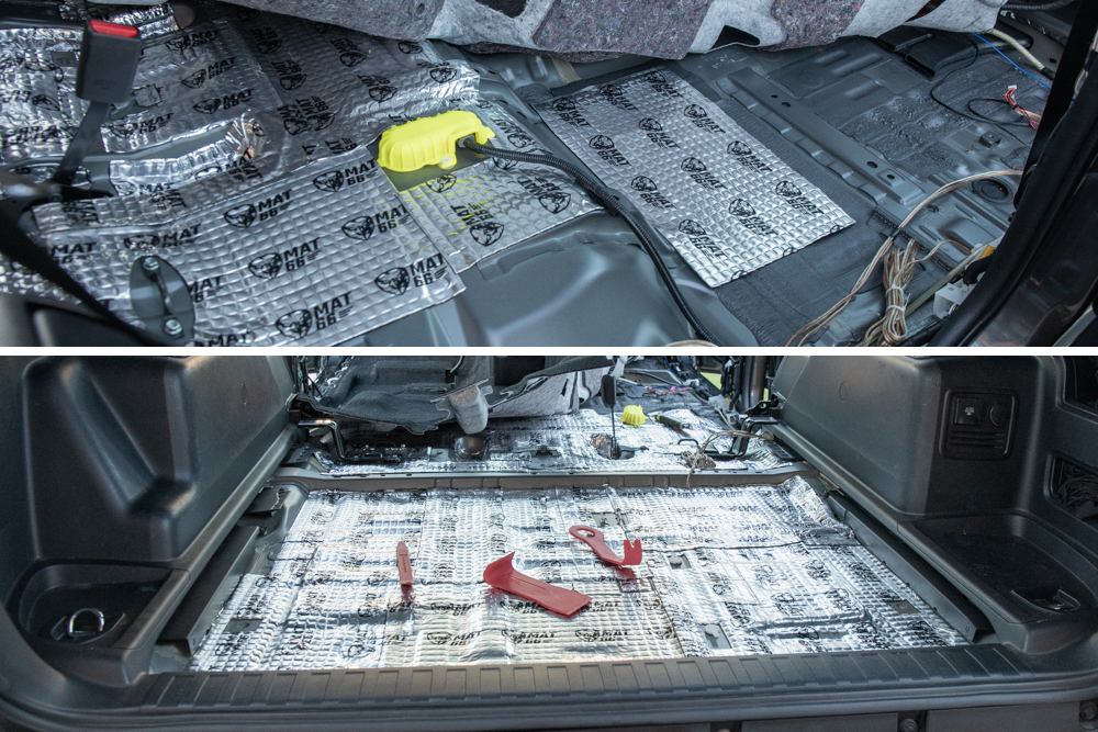 Sound Deadening Floors - Rear and Center