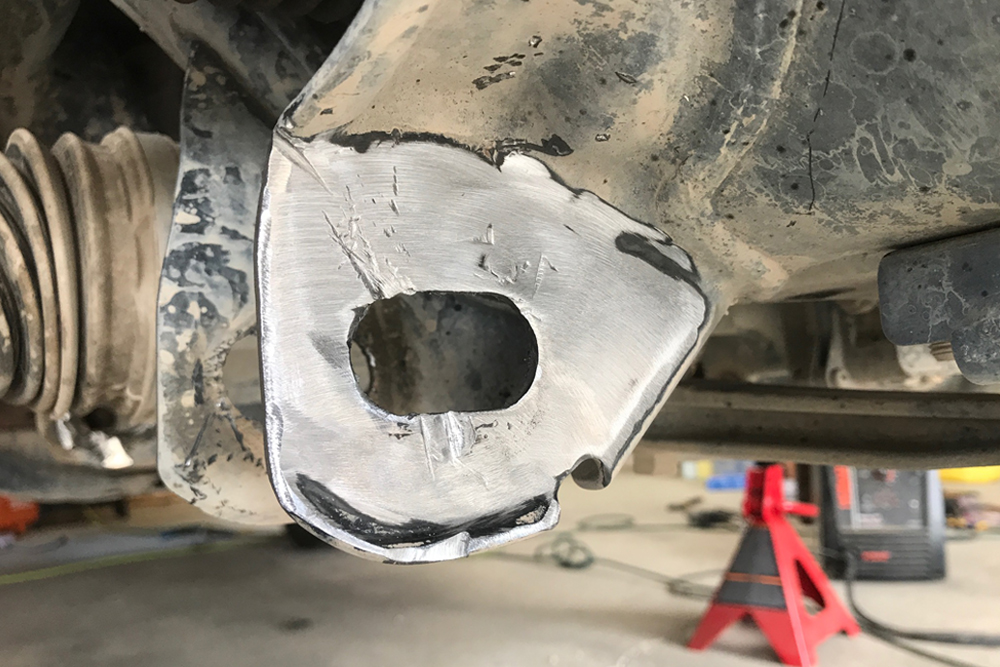 Total Chaos Weld-On Cam Tab Gussets For Off-Road Performance: Step-By-Step Install on the 5th Gen 4Runner: GRIND SURFACE FOR WELDING