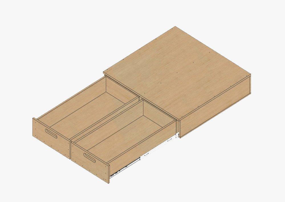 Dual Drawer Storage System DIY Plans