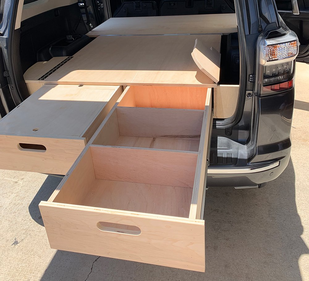 Dual Drawer Storage System DIY Plans for the 5th Gen 4Runner - Side Cubby