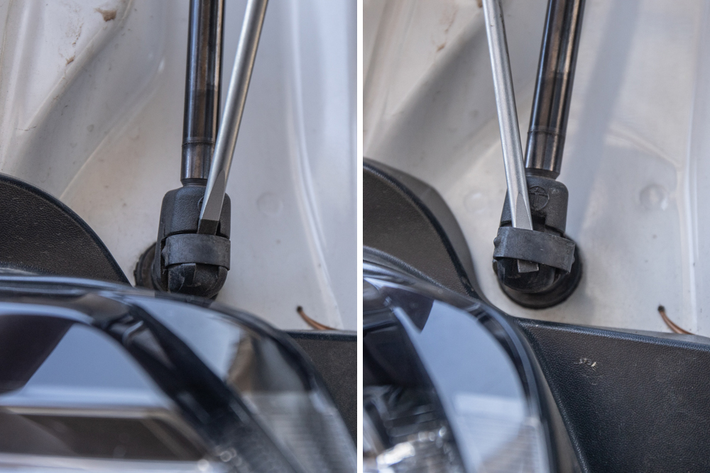 Remove Factory Liftgate Struts - Top End First
