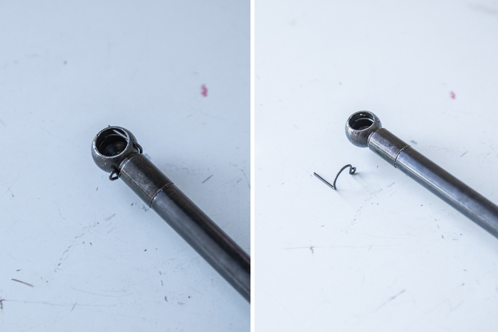 Unclip Small Pin on Liftgate Struts