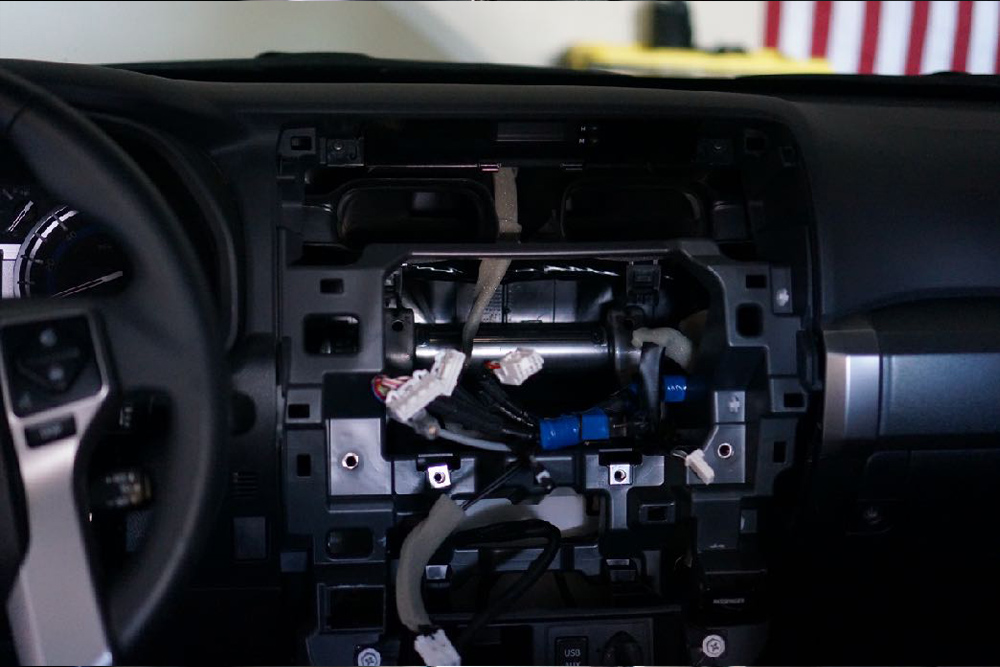 Car Trim Home T9 Head Unit Product Review and Setup Installation: A GPS + Audio Upgrade For the 5th Gen 4Runner: Installation - Reinstall OEM Vents + Emergency Flasher Button Onto T9's Trim
