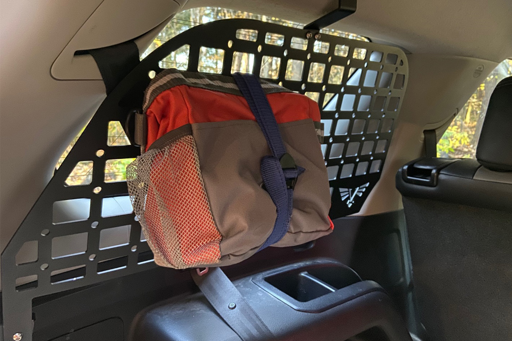 Victory 4x4 Rear Window Molle Panel Easy-To-Install Storage System For the 5th Gen 4Runner: My Panel in Place