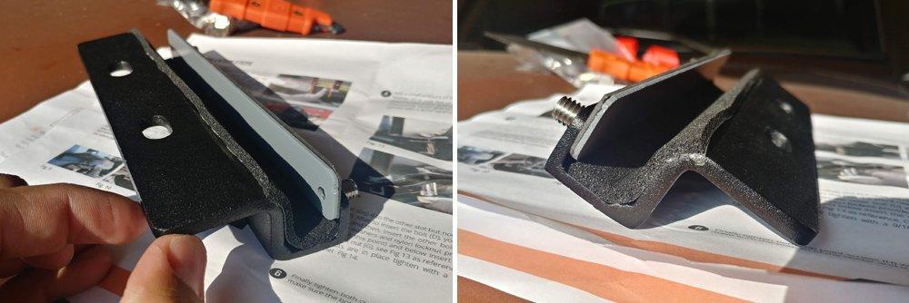 BajaRack Full-Length Roof Rack Ladder Step-By-Step Install For the 5th Gen 4Runner: Step 4. Secure Bottom Bracket Onto Aluminum Plate
